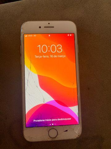 iPhone 7 tela  trincada