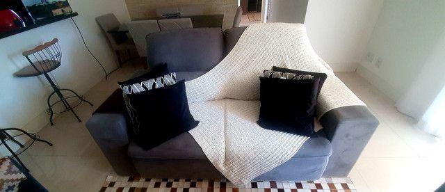Sofa 3 lugares modelo com chaise dos dois lados. Cinza chumbo.  - Foto 3