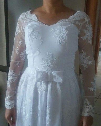 Vestido de noiva todo rendado - Foto 2