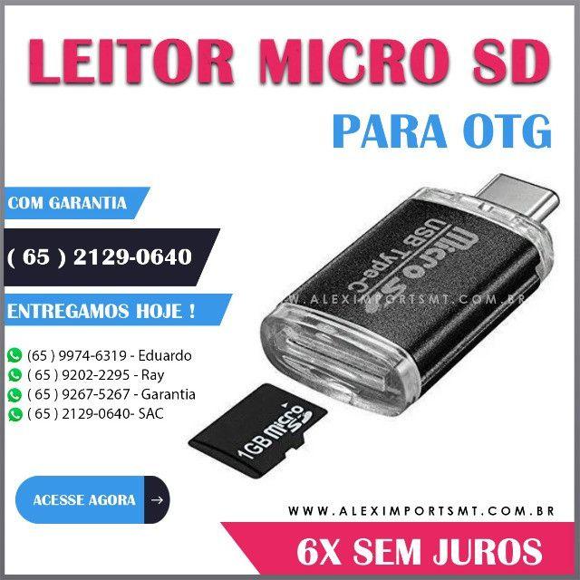 Leitor De Cartão Micro Sd Para Tipo C Otg Adaptador Leito