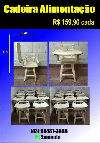 Cadeirao de alimentação para bebês de Madeira maciça para restaurante ou casa