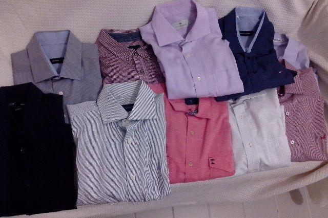 Conjunto de 10 camisas sociais de manga comprida a partir de 54 reais