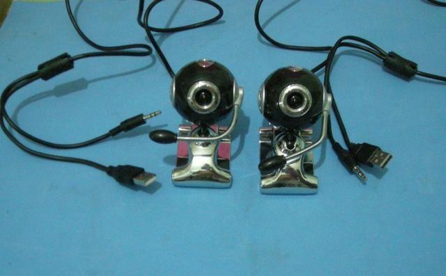 Segurança para escritórios e comércio câmera webcam usb com microfone por 30 reais cada um - Foto 4