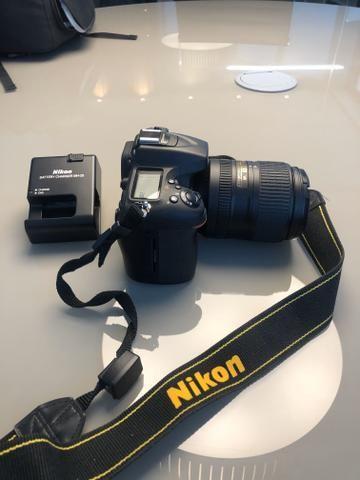 Nikon D7100 + Lente Nikor 18-300 + adaptador Wi-Fi + Carregador + Mochila - Foto 4