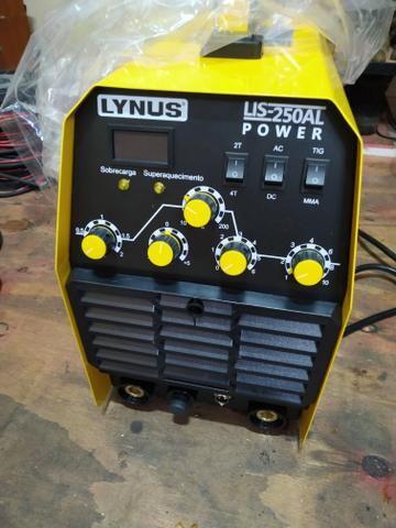 Máquina de solda lynus 250al AC/DC (solda alumínio)