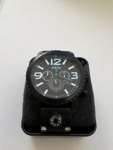Relógio Masculino Fossil Preto, Novo Na Caixa - Bijouterias ... dff430d0a0