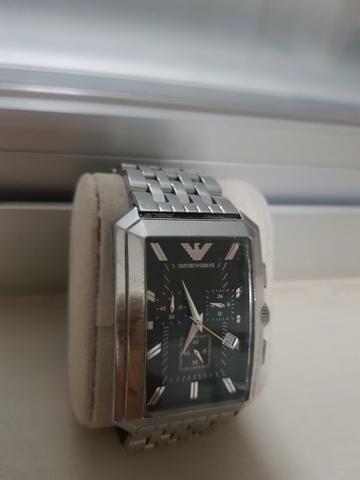 7ec27a157 Relógio Emporio Armani Masculino Prata - - Bijouterias, relógios e ...