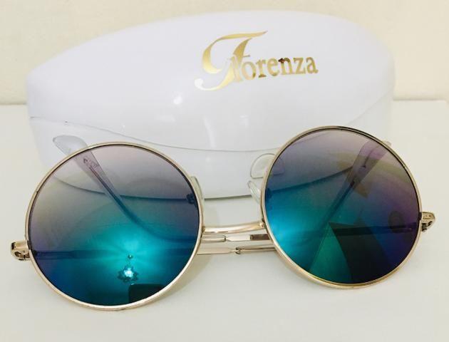 f4dc6b6dc204a Óculos colorido lente redondo - Bijouterias