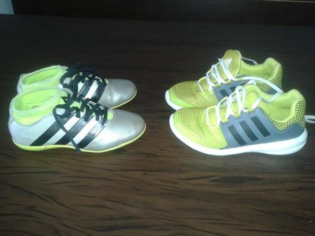 e1fbe9bda12 Tenis Adidas Tam.27 e Chuteira Adidas Tam.28 - Artigos infantis ...