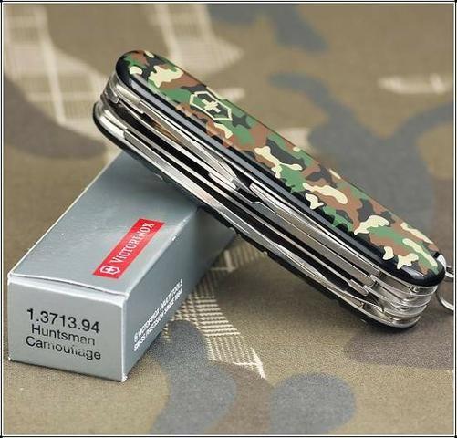 Canivete Suiço Victorinox Huntsman Camouflage Verde 15 funç Novo original