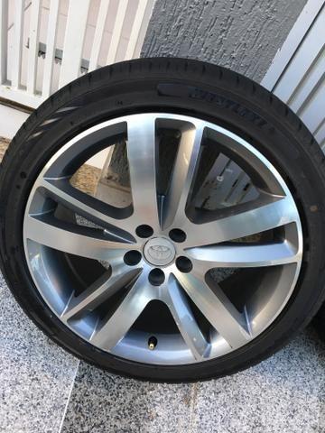 Rodas aro 18 com pneus novos! - Foto 4