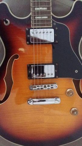 Guitarra Hofma Semi-Acustica - Foto 6