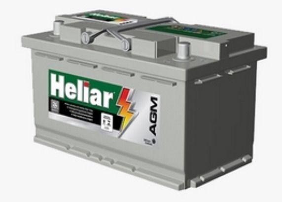 Bateria Para Carro Heliar Tenologia AGM de 80 AH com 2 Anos de Garantia