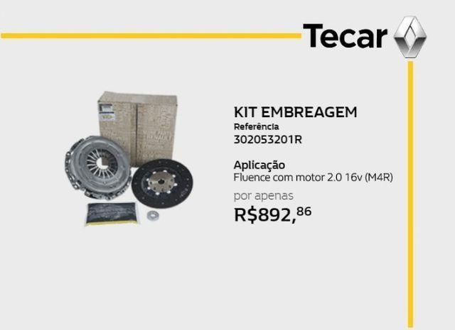 Kit Embreagem Renault Fluence 2.0 16v motor M4R Original