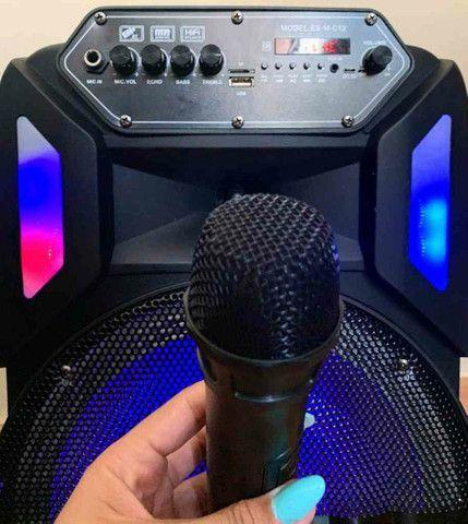 Caixa de Som 3000W Bluetooth Microfone S/ fio e Controle Remoto! ?? - Foto 2