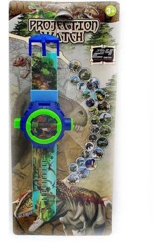 Relógio Infantil Masculino Com Projetor Dinossauro Luminoso - Foto 2