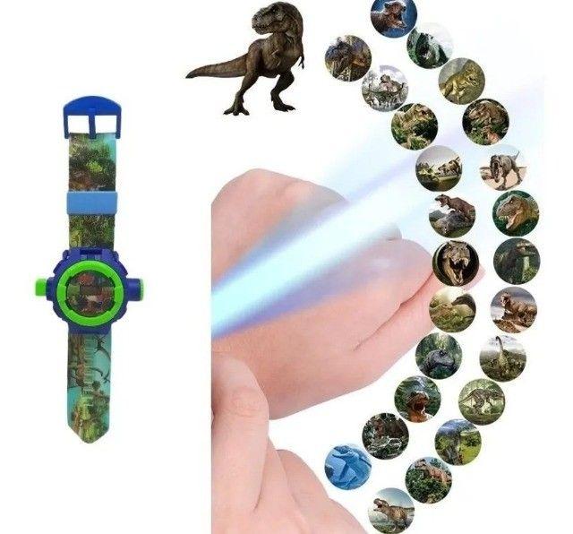 Relógio Infantil Masculino Com Projetor Dinossauro Luminoso