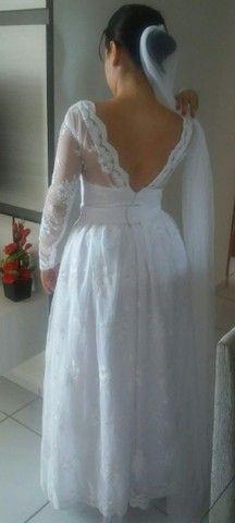 Vestido de noiva todo rendado - Foto 4