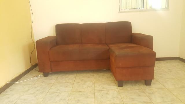 Lindo sofá 3 lugares com chaise