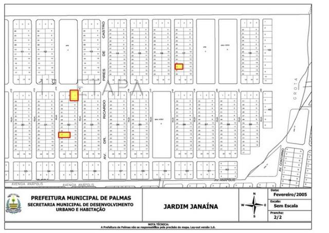 Vende-se 03 Lotes Jardim Janaína - Palmas - To