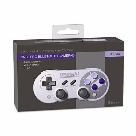Controle Snes 8bitdo F30pro Sem Fio Bluetooth Super Nintendo(SNES)