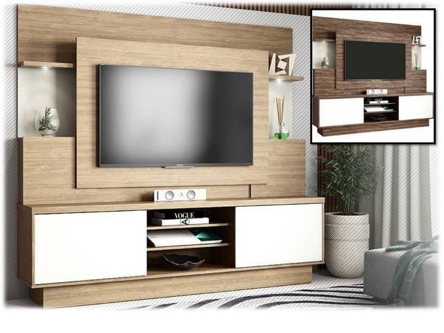 """Estante Home A smart com led para tv até 55"""" - vários modelos - Receba rápido"""""""