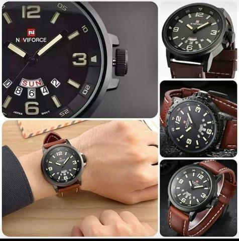 59d68d21f Relógio original social couro masculino feminino - Bijouterias ...