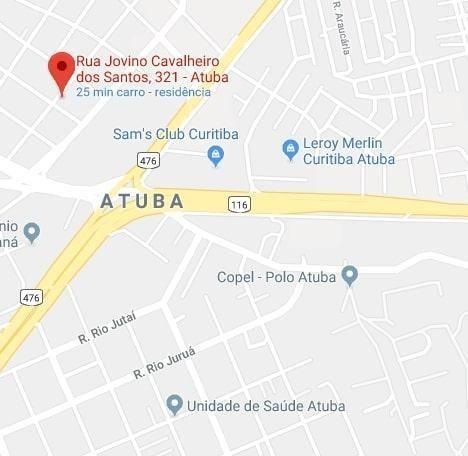 Terreno à venda, 510 m² por r$ 430.000,00 - atuba - curitiba/pr - Foto 2