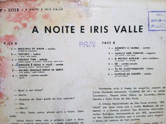 Lp Vinil Iris Valle A Noite E Iris Valle - Foto 3