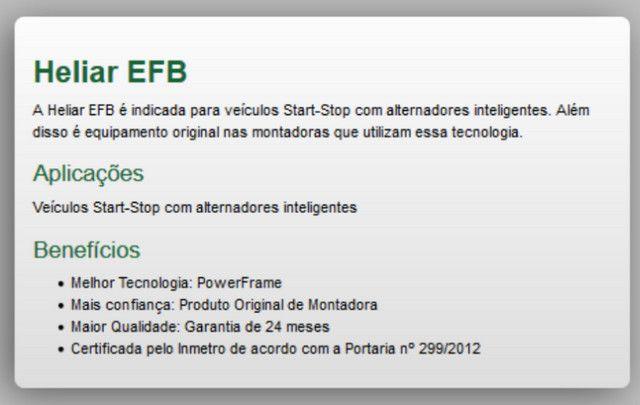 Bateria Para Carro Heliar Tenologia EFB de 60 AH com 2 Anos de Garantia - R$570,00 - Foto 3