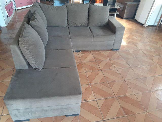sofa de canto de 6 lugares bem conservado (ENTREGO ...