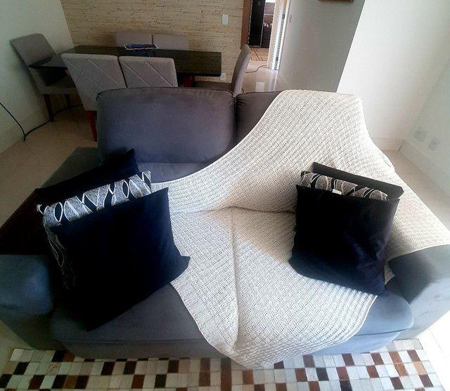 Sofa 3 lugares modelo com chaise dos dois lados. Cinza chumbo.  - Foto 4