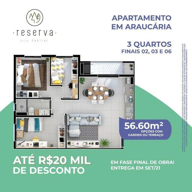 W #FEIRÃO Até R$20 Mil De Desconto #Apartamentos 3Qts Garden Ou Terraço #reserva - Foto 5