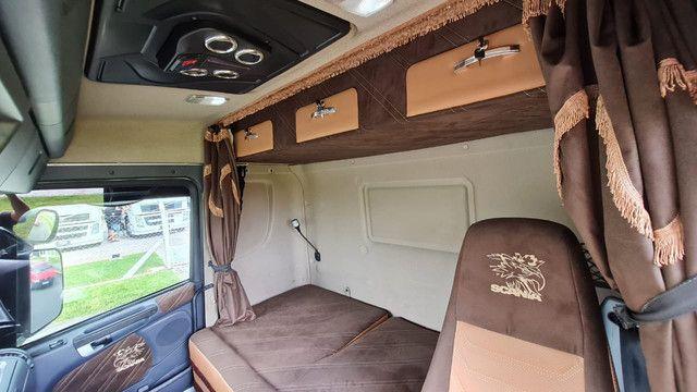 Scania 124 G 400 ano 2013 Trucado 6x2 com ar cond Unico Dono Lindo - Foto 12