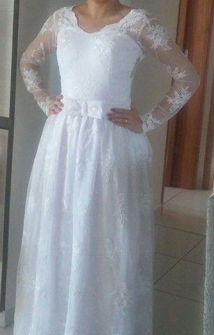 Vestido de noiva todo rendado - Foto 5