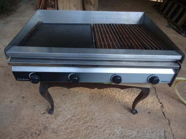 Char broiler Tedesco - grill - chapa - 04 queimadores - Foto 3