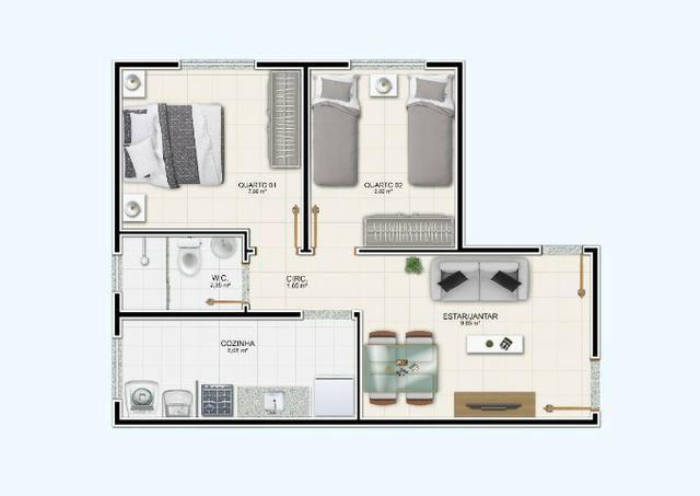 R$ 99.990 Apartamento de 2/4, no Jardim Europa - Condomínio Madrid - Feira de Santana - Foto 15