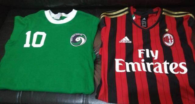 Camisa Milan, Barcelona Itália e Cosmos