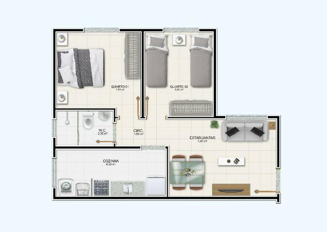 R$ 99.990 Apartamento de 2/4, no Jardim Europa - Condomínio Madrid - Feira de Santana - Foto 19