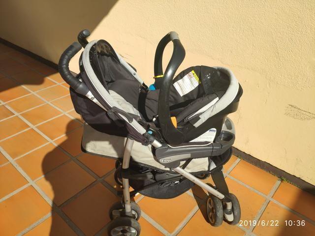 Carrinho de bebê Chicco Trevi + bebê conforto - Foto 2
