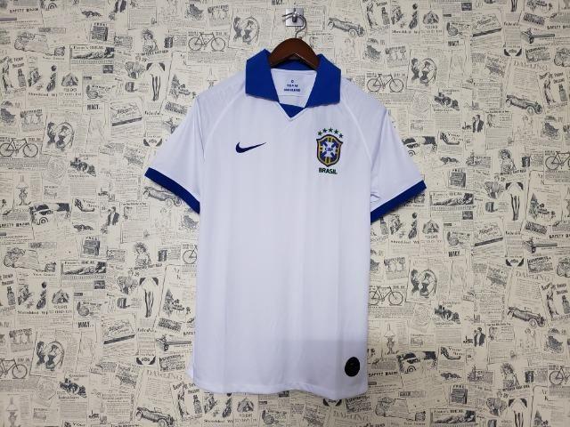 e36e57707d Camisa Seleção Brasileira Copa América Branca 2019 - Roupas e ...