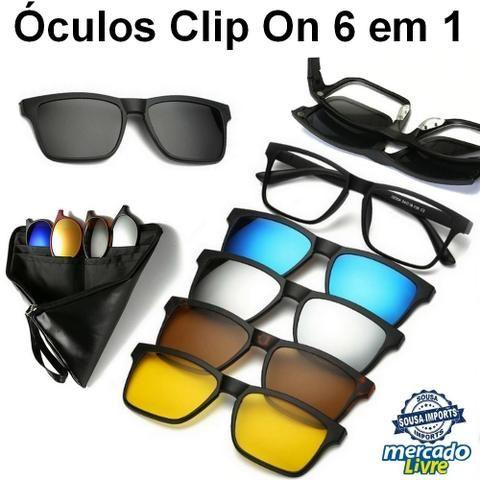 c03136f4f075d Óculos 6 em 1 Clip On pode por Grau - Entregamos! - Bijouterias ...