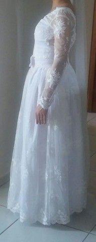 Vestido de noiva todo rendado - Foto 3