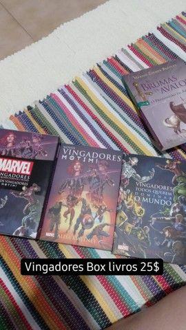 Box livros Vingadores motim