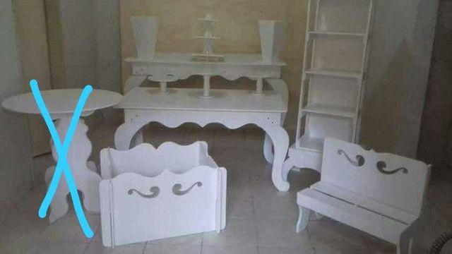 Kit branco para decoração de festa - Foto 3