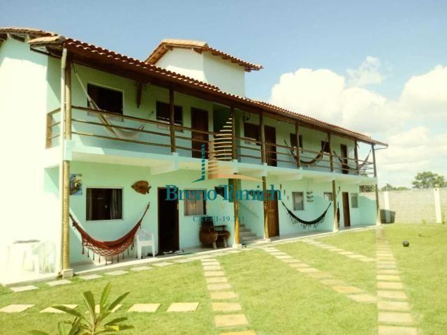Pousada com 6 dormitórios à venda, 413 m² por r$ 799.000 - coroa vermelha - porto seguro/b