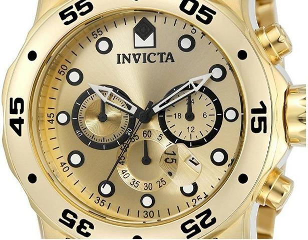e67ab813ccd Lindo relógio Invicta Masculino  Pro Diver  Quartzo Banhado a ouro ...