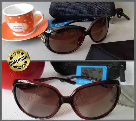 3ee136291 Óculos de Sol Feminino Lentes Polarizadas - Proteção UV 400 - Com Cartão  Teste de Lentes
