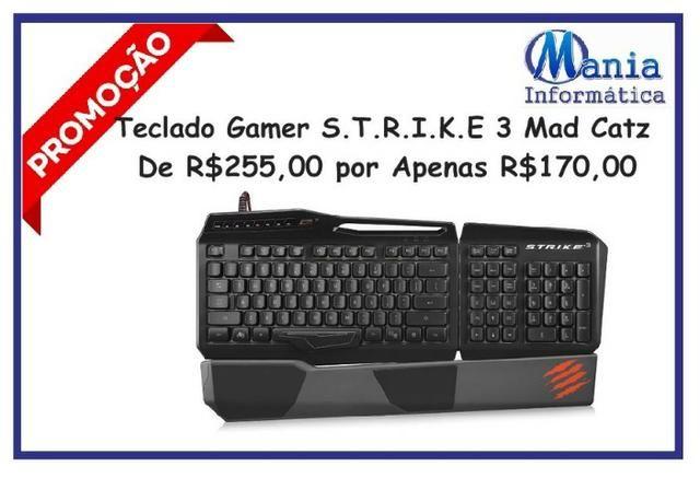 Teclado Gamer Mad Catz Strike 3 - novo