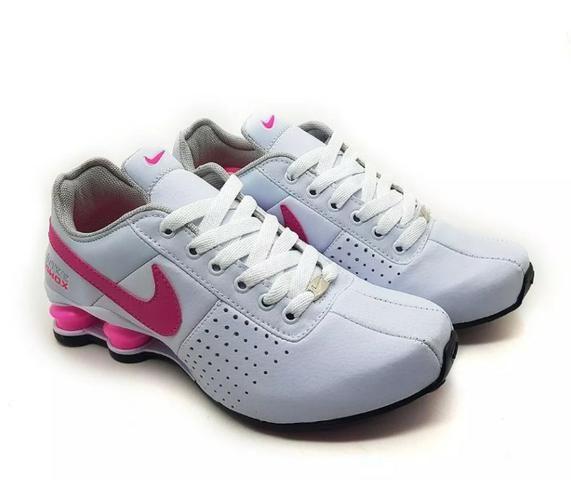 e7fff0301bf Tênis Nike Shox Feminino branco rosa - Roupas e calçados - São ...